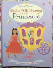 Usborne Sticker Dolly Dressing: Princesses NEW Paperback 400+ REUSABLE Stickers