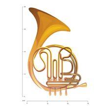 Franse hoorn Koperen instrumenten Muursticker WS-46255