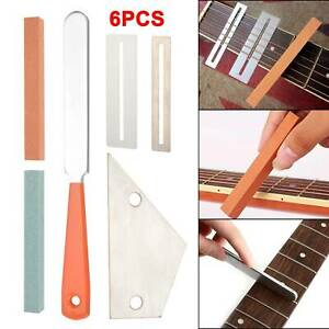 New Guitar Crowning Rocker Luthier Tool Kit Fingerboard Protector 6Pcs