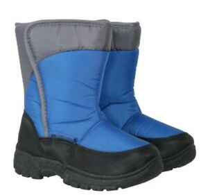 Kids Caribou Single Stripe Snow Boot - Petrol UK 3 EU 35 US 4 #344 RRP £29.99