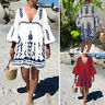 ZANZEA Women Summer Bell Sleeve Sundress Club Party Beach Bohemian Floral Dress
