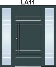 Door Modern Solid External  Aluminium with UPVC WH 75model sidelight Front Doors
