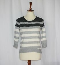 Petite M Stripe boatneck pullover sweater long sleeve
