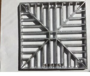 """230mm (9"""") Square Metal Alloy Gully Grid Grate Drain Cover No Rust Man Hole"""