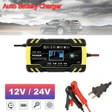 12V/24V Car Charger Automatic Intelligent Pulse Repair Jump Starter Booster Usa