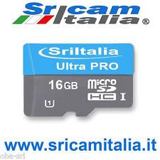 Micro sd 16gb classe 10 SriItalia MicroSDHC Ultra Pro da 16 GB  Ip Camere