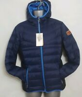 asics Onitsuka Tiger KOBE-JPN Down Jacket Blue Size M ⭐AUTHENTIC⭐