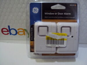 GE 45115 Personal Security Window or Door Alarm - WHITE Colored  NEW FREE SHIP