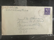 1941 Soochow China Cover to Brownsville TN USA Sea Post SS President Pierce