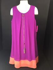 Childrens Clothes Girls Size 8 Dress Sleeveless W/Necklace Hot Pink Orange NEW