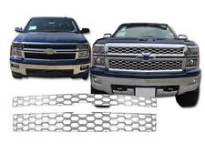 Fits The Chevy Silverado 2014-2015 1 WT/2WT/LT 1500 ABS Chrome Grille Insert