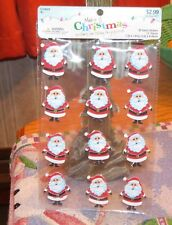 MAKE IT CHRISTMAS 3D SANTA STICKERS - 12 STICKERS IN ONE PACKAGE