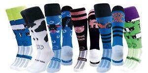 WackySox 6 Pairs for 4 Saver Pack Rugby Socks, Hockey Socks - Animal Farm