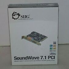 SIIG SoundWave 7.1 Internal PCI 8-Channel Sound CardIC-710012-S2  NEW- SEALED