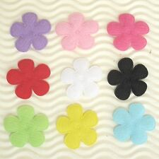 "US SELLER - 90 pcs x 1"" Padded Felt Spring Flower Appliques for Bows/Cards ST628"