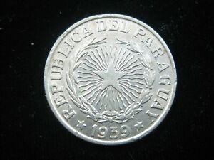 PARAGUAY 5 PESOS 1939 KM18 SHARP ORIGINAL LUSTER 3950# WORLD MONEY COIN