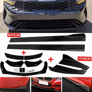 Front Rear Bumper Spoiler +Side Skirt+Rear Lip Fits For Kia K5 GT Optima Forte