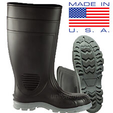 Heartland Rain Boots Mens Poultry TUFF Industrial Pull-on Waterproof Rubber Boot