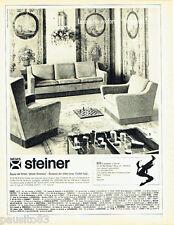 PUBLICITE ADVERTISING 036  1965  les sièges Steiner canapés-lits
