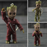 Key Chain Baby Groot Guardians of The Galaxy Vol 2 Alloy Keyring Figure Pendant