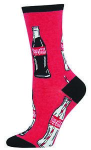 Coca-Cola Red Bottle Repeat Pattern Women's Socks Size 9-11 Shoe Size 5-10.5