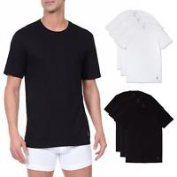 Nautica Men 3 Pack Cotton Crew Neck T-Shirts BLACK L,  PREOWNED