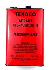 TEXACO Aircraft Aviation Hydraulic Oil 15 Petroleum Gallon Advertising Can