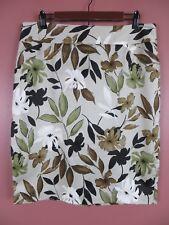 SK11989- CHARTER CLUB Womens 98% Cotton Pencil Skirt Multi-Color Floral Sz 14