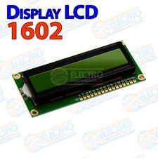 Display LCD 1602 Verde Negro – pantalla HD44780 LCD1602 16x02 - Arduino Electron