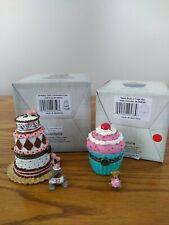 Boyds 1E Treasure Boxes Birthday Girl Cake & Nana'S Cupcake New w Boxes!