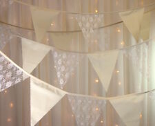 Calico & ivory lace bunting Shabby chic wedding bo-ho baby shower per mt FF