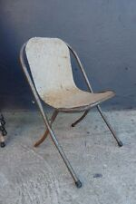 VINTAGE SEBEL CHILDS SIZE METAL SUNRISE STACKING CHAIR