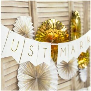 Just Married Mr and Mrs Wedding Party Foil Banner Bunting Decorations Banners
