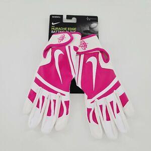 NEW Nike Huarache Edge Batting Gloves Mens Large Vivid Pink/White NBG01197LG