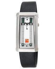 Frank Lloyd Wright 96L63 Willits Leather Strap Watch by Bulova