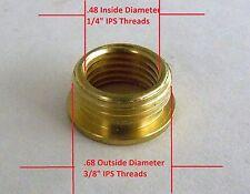 "Reducer Lamp Part 3/8"" IPS (5/8"" Dia) M X 1/4"" IPS (1/2"" Dia) F Brass (R2)"