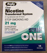 Rugby Nicotine Transdermal System Step-1 21mg 14 Patches