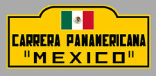 STICKER 15cmX6,5cm PLAQUE CARRERA PANAMERICANA MEXICO VINTAGE AUTOCOLLANT PD026