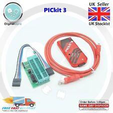 PICkit 3 PK3 Universal Programmer + Adapter Seat ZIF PIC IDC2- PICKit2 Microchip