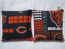 Chicago Bears Cornhole Bags Corn hole Set of 8 - Baggo Tailgate Game Bag Set