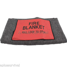 """Fire Escape Survival Emergency Blanket with Case 78"""" x 62""""  - 10 Year Guarantee"""
