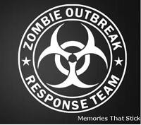 Zombie Outbreak Funny Novelty Car Window Bumper JDM VW EURO Vinyl Decal Sticker