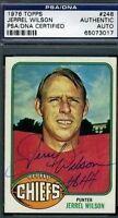 Jerrel Wilson Signed Psa/dna 1976 Topps Autograph Authentic