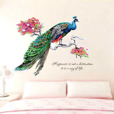 Peacock Wall Art Stickers Removable Vinyl Decal Mural Home Office Decor Gift