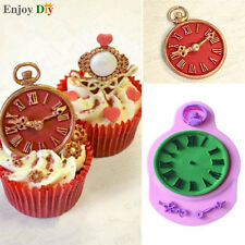 Silicone Clock Shaped Mold Fondant Cake Mould Clock Watch Candy Bake Mold Tool