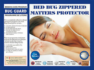 Lab Certified Anti Allergy,BedBug Mattress Zippered cover Encasement(free sheet)