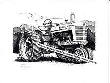 Farmall Model M Tractor ~ Pen & Ink Print