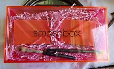 GORGEOUS SMASHBOX LIP and EYE PALETTE SET WITH BRUSHES in LUCITE MAKEUP BOX