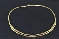 New Womens 18K Gold Collar Necklace