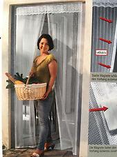 Moskitonetz WEIß Tür Fliegengitter mit Magnetverschluß 100x215cm Fliegenschutz